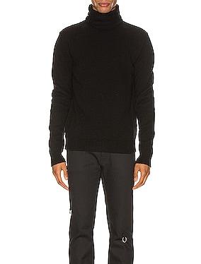 Turtleneck Knit Straps Sweater