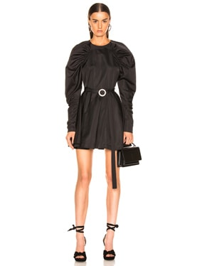 Puff Sleeve Belted Mini Dress