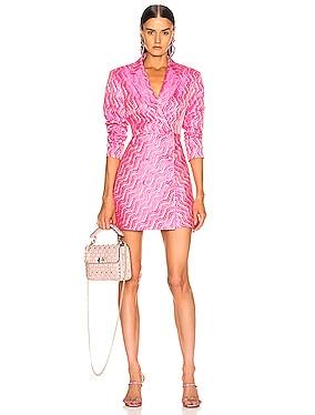Double Breasted Mini Blazer Dress