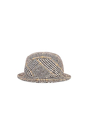 Wool Plaid Bucket Hat