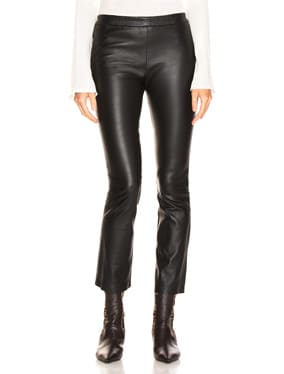 Devon Cropped Leather Pants