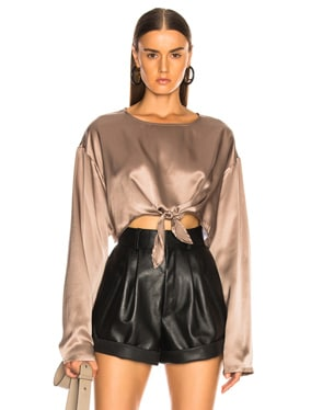 Roc Knotted Silk Top