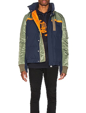 Nylon Twill Down Jacket