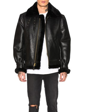 B-3 Sheepskin Leather Bomber Jacket
