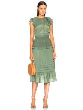 Cecile Short Sleeve Smocked Dress