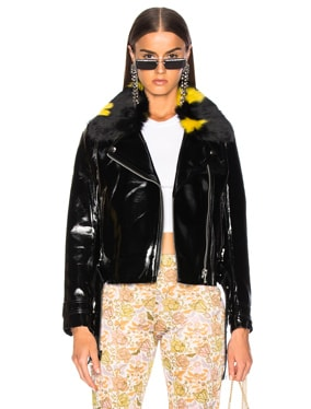 Faux Fur & Leather Alby Jacket