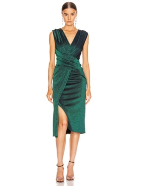 Gretchen Lurex Sleeveless Dress
