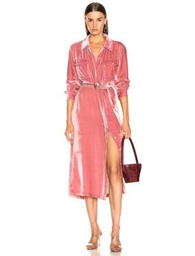 Imogene Cord Tie Front Dress
