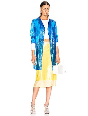 Mie Embossed Plastic Coat