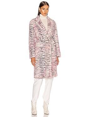 Tatiana Printed Faux Fur Coat