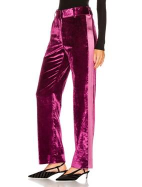 Sonya Liquid Velvet Slim Pant