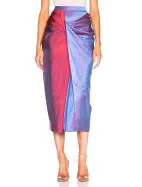 Libbie Iridescent Twist Skirt