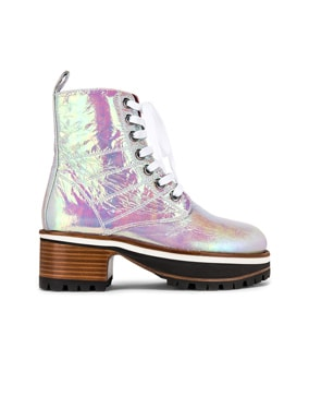 Jessa Holographic Combat Boots