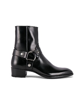 Wyatt Leather Harness Boots