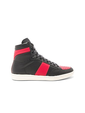 Signature Court Classic SL/10H Leather High Top Sneakers