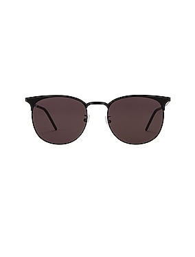 Slim Club Master Metal Sunglasses