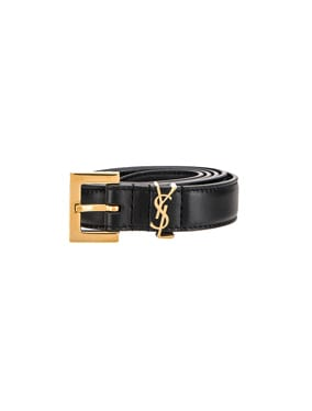 Leather Monogramme Belt