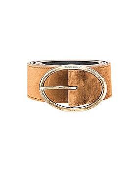 Oval Buckle Belt