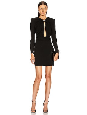 Long Sleeve Keyhole Mini Dress