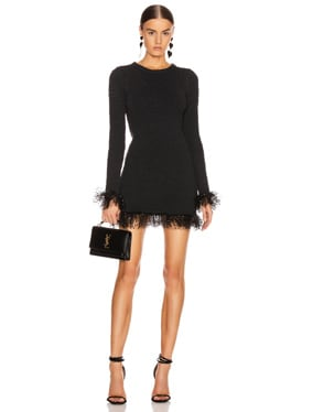 Long Sleeve Tulle Mini Dress
