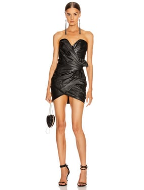 Leather Bustier Mini Dress