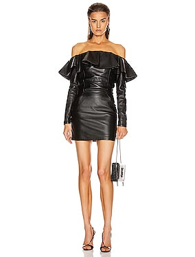 Leather Mini Dress
