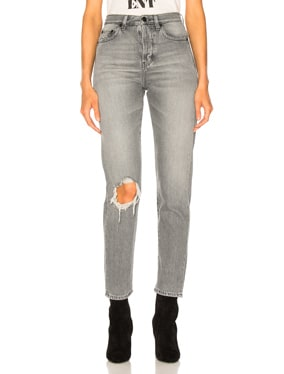 Slim Fit Knee Hole Jeans