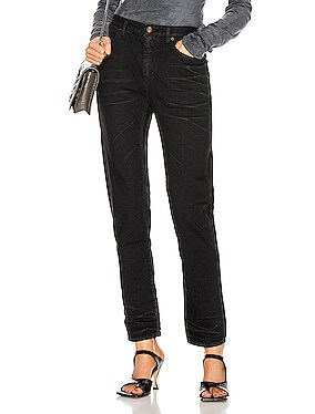 Medium Waist Cropped Jean