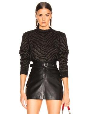 Zebra Print Lurex Mohair Sweater