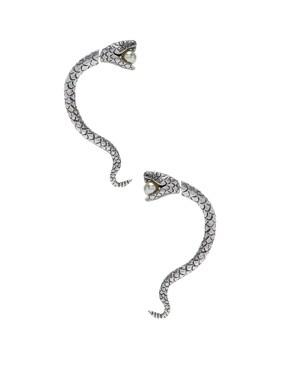 Pearl Snake Earrings