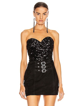 Strapless Sequin Top
