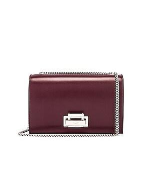Fermoir Art Deco Leather Crossbody Chain Bag