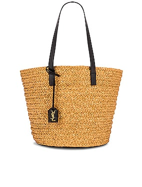 Medium Panier Raffia Bag