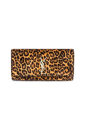 Kate Leopard Clutch