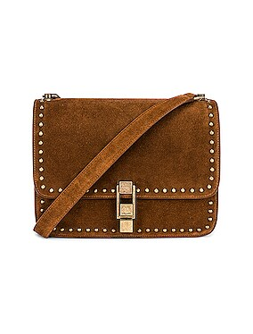Carre Suede Stud Bag