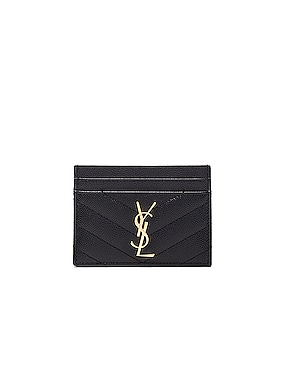 Monogramme Quilted Credit Card Case