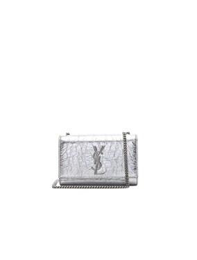 Small Metallic Monogramme Kate Chain Bag