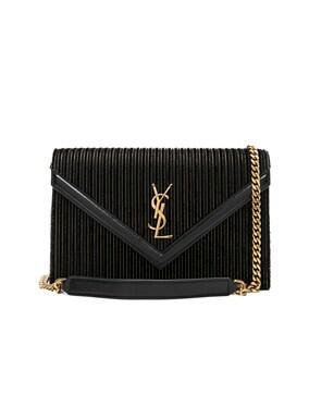 Velvet & Leather Monogramme Le Sept Chain Bag