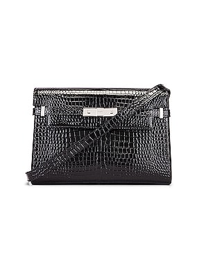 Manhattan Croc Shoulder Bag