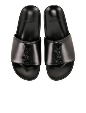 Joan Leather Slides