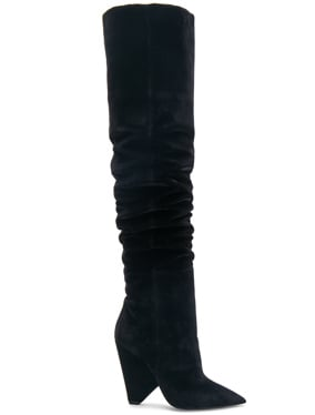 Niki Velvet Thigh High Boots