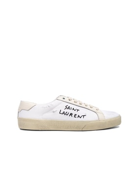 Embroidered Canvas Court Classic Sneakers