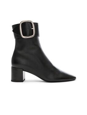 Leather Joplin Buckle Ankle Boots