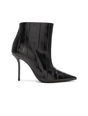 Eel Leather Pierre Stiletto Ankle Boots