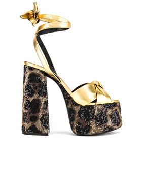 Leopard Platform Sandal
