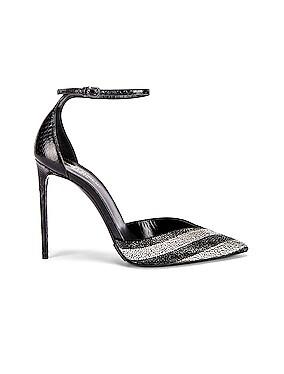 Zoe Crystal Ankle Strap Heels
