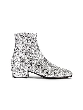 Caleb Glitter Zip Boots