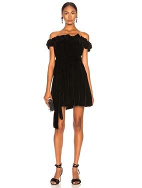 Miya Velvet Off Shoulder Dress