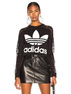 x adidas Lace Sleeve Logo Sweatshirt