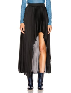 Allora Pleated Satin Skirt